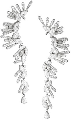 Adriana Orsini Silvertone & Cubic Zirconia Climber Linear Earrings