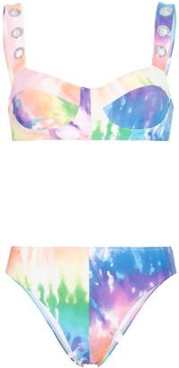 ACK Amore tie-dye eyelet bikini