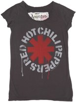 Amplified Womens Charcoal Dripping Red Hot Chili Peppers T Shirt from