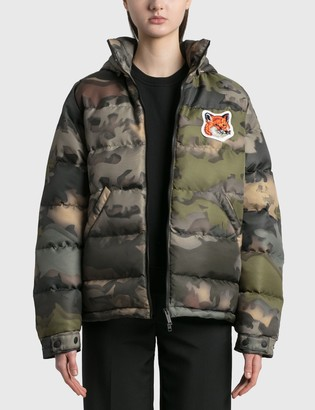 MAISON KITSUNÉ Velvet Fox Head Patch Short Down Jacket
