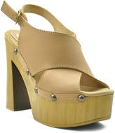 Sbicca Nude Iness Leather Sandal