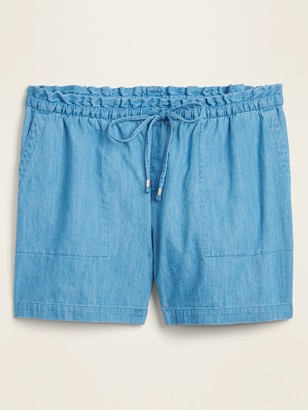 Old Navy High-Waisted Chambray Plus-Size Pull-On Shorts -- 7-inch inseam
