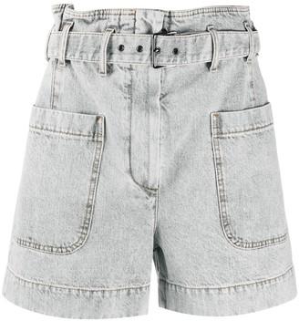 Brunello Cucinelli High-Rise Belted Denim Shorts