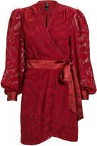 Jonathan Simkhai Night Night By Fil Coupe Wrap Mini Dress