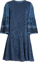 Valentino Swallow Metamorphosis-print silk mini dress