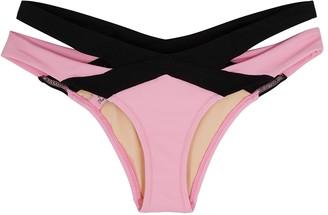 Agent Provocateur Mazzy Pink Cut-out Bikini Briefs