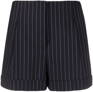 Rag & Bone Pinstriped High-Rise Shorts