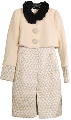 Zac Posen Beige Wool Coats