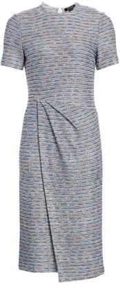 St. John Space Dye Ribbon Tweed Sheath Dress