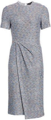 St. John Space Dye Ribbon Tweed Sheath Dress