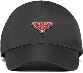 Prada Triangle-Shaped Logo Baseball Cap