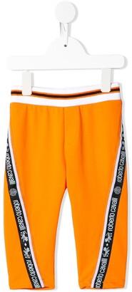 Roberto Cavalli Junior Logo Trim Sweatpants