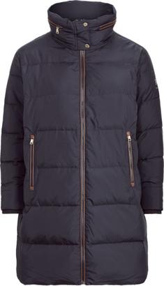 Ralph Lauren Faux Leather-Trimmed Down Coat