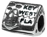 Zable Clevereve Designer Series Key West Travel Sterling Silver Charm Bead