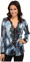 Hale Bob Truth Or Flare Hand Beaded Blouse