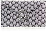 Wilbur & Gussie Edith Silver Corazza Large Envelope Clutch Bag