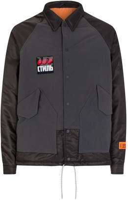 Heron Preston Logo Patch Collar Jacket