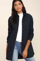 Freeway Whatever the Weather Quilted Navy Blue Jacket