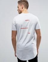 Jack and Jones Core Longline T-Shirt With Crest Logo