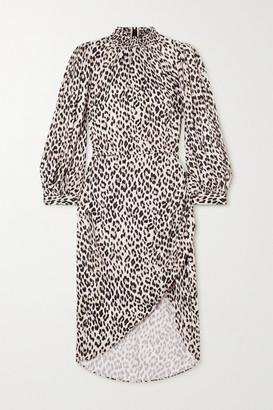 Alice + Olivia Alice Olivia - Jerilyn Ruffled Leopard-print Jacquard Dress - Leopard print