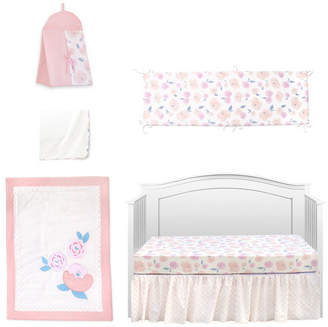 Pam Grace Creations Vintage Like Rose 6 Piece Crib Bedding Set Bedding