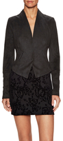 Free People Faux Suede Lace Up Back Jacket