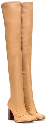 Loewe Leather over-the-knee boots