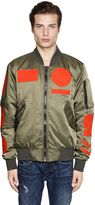 G Star Contrasting Patches Nylon Bomber Jacket