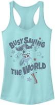 "Licensed Character Juniors' DC Comics Wonder Woman ""Busy Saving The World"" Tank Top"