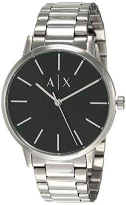 Armani Exchange Men's Cayde Analog-Quartz Watch with Stainless-Steel Strap