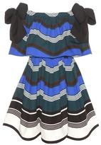 Fendi Striped cotton off-the-shoulder dress