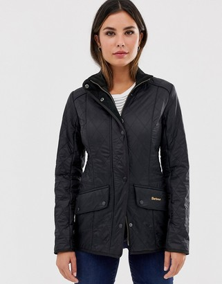 Barbour Cavalry Polarquilt jacket with fleece lining in black