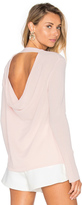 Halston Round Neck Cashmere Sweater
