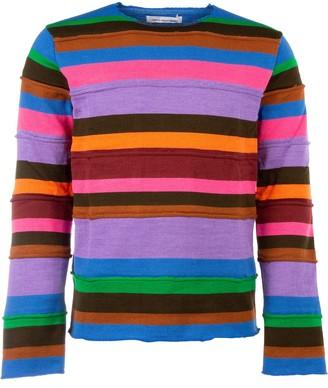 Comme des Garçons Shirt Striped Knitted Pullover