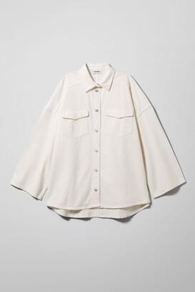 Weekday Samson Denim Shirt - White