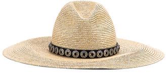 Saint Laurent Maxi Hat in Beige & Grey   FWRD