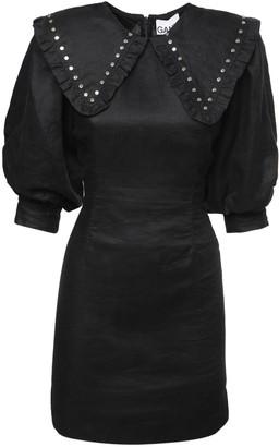 Ganni Light Linen Mini Dress