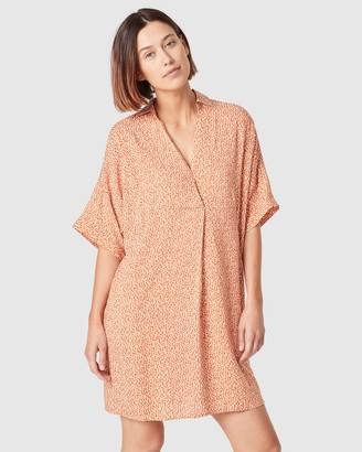 French Connection Animal Spot Popover Dress