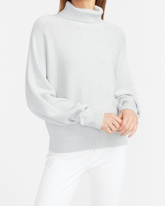 Express Metallic Dolman Sleeve Turtleneck Sweater