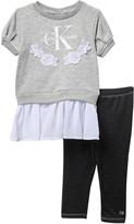 Calvin Klein Sweater Blouse & Leggings Set (Toddler Girls)