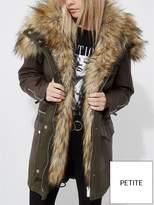 RI Petite Khaki Parka Coat