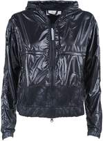 adidas by Stella McCartney Hooded Glossed-shell Jacket