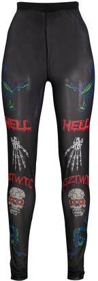 Kokon To Zai Death Metal Minimal Print leggings
