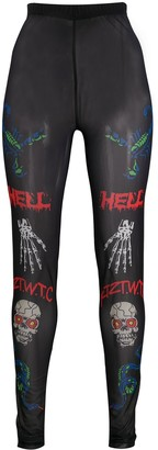 Kokon To Zai Death Metal Minimal Print leggings