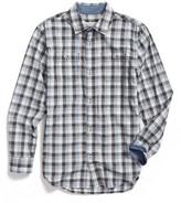 Tucker Boy's + Tate 'Photo Op' Long Sleeve Cotton Woven Shirt