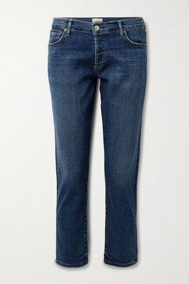 Citizens of Humanity Emerson Distressed Mid-rise Straight-leg Jeans - Mid denim