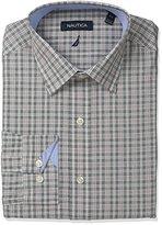 Nautica Men's Check Button-Down Collar Dress Shirt