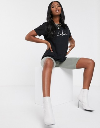 Couture The Club motif tee in black