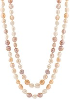Unbranded Dyed Freshwater Cultured Pearl Long Double Strand Necklace