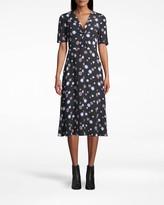 Nicole Miller Crepe Twist Front Dress